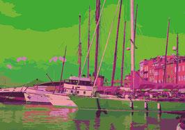 "Leinwand ""Le Port"" - St. Tropez"