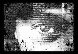"Leinwand ""Eye"" - Newspaperart-Style"