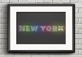 "Poster ""Typografie"" - New York"