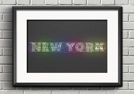 "Poster ""Typografie"" - New York"