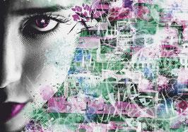 """Leinwand """"Face"""" - Abstraktart-Style"""