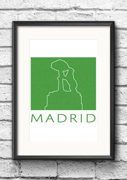 "Poster ""Madrid"" | Grün"