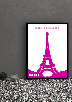 """Poster Stay Connected """"Paris"""" 