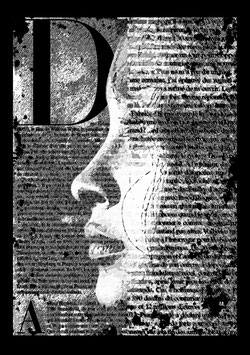 "Leinwand ""Portrait"" - Newspaperart-Style"
