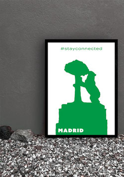 """Poster Stay Connected """"Madrid"""" 