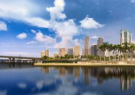 "Leinwand ""Miami Skyline"" - USA"