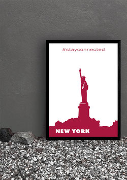"Poster Stay Connected ""New York"" 