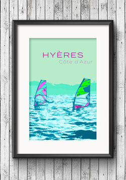 "Poster ""Hyères"""