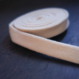 Plat Sweaterkoord van biologisch katoen - 10 mm breed