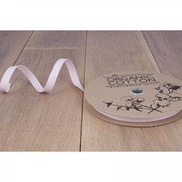 Katoenen Band – 10 mm breed - Lichtroze visgraat