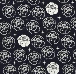 Stamped Roses Dusk- Katoen - Birch