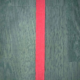 Linnen band – 10 mm breed - Rood