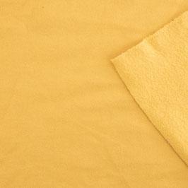 Honinggeel Fleece- Katoen - Birch