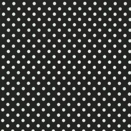 Zwart met witte stipjes - Katoen - C.Pauli