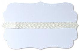 Katoenen band - 18 mm breed - Gebroken Wit