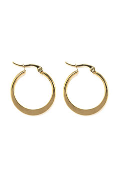 Golden statement hoops