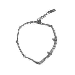 Silver basic dots bracelet