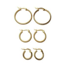 Set 2 - Golden basic hoops