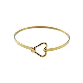 Golden heart bangle