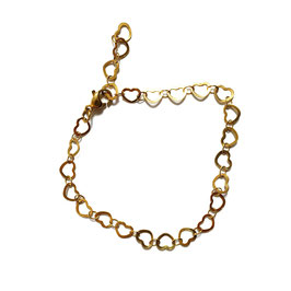 Golden little hearts bracelet