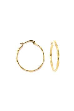 Golden bumpy hoops