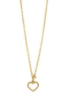 GOLDEN BIG CHAIN HEART
