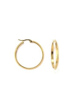 Golden shiny hoops