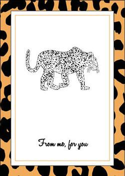 XMAS Card Leopard
