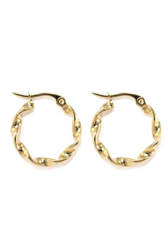 Golden chunky hoops 30 mm