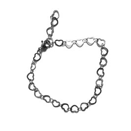 Silver little hearts bracelet