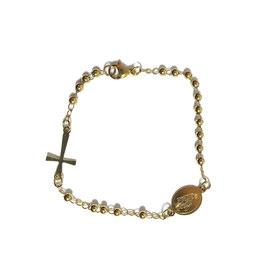 Golden rosary bracelet