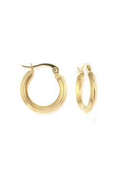 Golden little shiny hoops