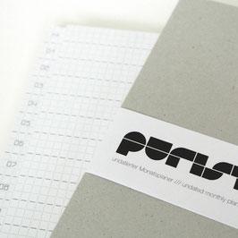 purist undatierter Monatsplaner / undated monthly planner