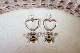 """Boucles d'oreilles """"Mon petit amour d'abeille"""""""
