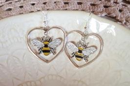 """Boucles d'oreilles """"Grand amour d'abeille"""""""