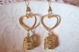 """Boucles d'oreille """"Amour en cage"""""""