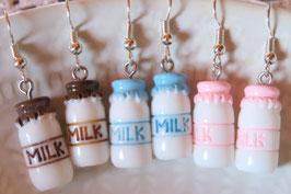 """Boucles d'oreilles """"Petite bouteille de lait"""""""