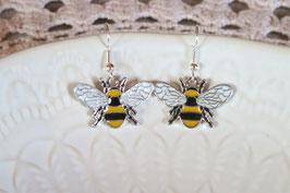 """Boucles d'oreille """"Petit couple d'abeille"""""""
