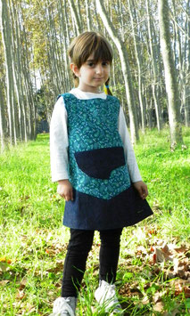 Vestido Bonito Verde Otoño-Invierno