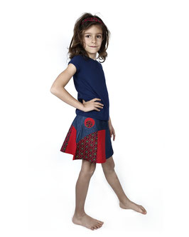 Falda de tablas Diana Roja