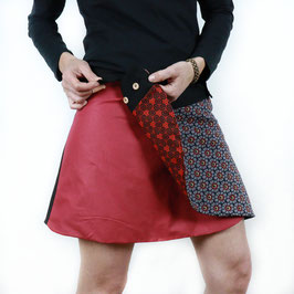 Falda Pareo Reversible Roja