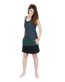 Falda Terracota Negra Rodones Verdes