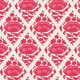 Baumwolle Pinke Blumen (Adl)