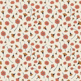 Cotton & Steel: Weiss mit kleinen Blumen
