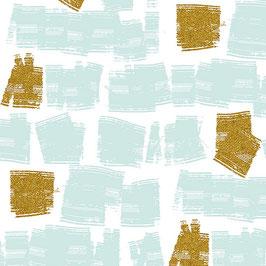 Shiny Objects: hellblau mit Gold