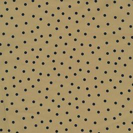 EcoVero Kokka: beige mit dunkelblauen Punkten