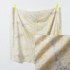 Nani Iro: doublegauze offwith mit gelb/silber