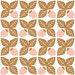 Cotton & Steel: weiss mit Erdbeeren in rosa