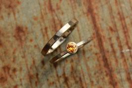 586er Palladiumweißgold Verlobungs- und Ehering Set