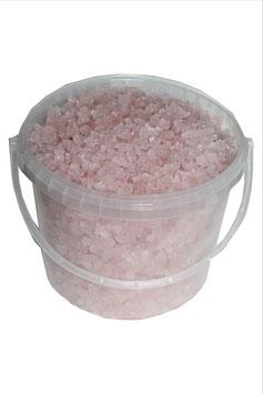 Rosa Meersalz-Badesalz vom Salzsee Siwasch, großer Kristall, 5 kg, für 10 Bäder